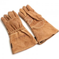 BBQ Barbeque Leather Gloves...
