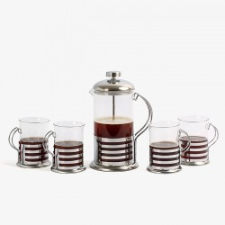 Glass Tea Mug Plunger Set...