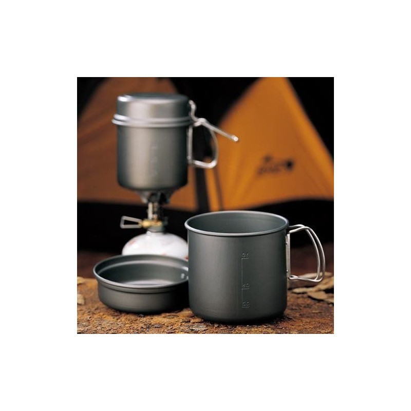 Kovea Solo 2 Cookset Kopel Outdoors  Hard Anodize Coated 1~2 People for Camping